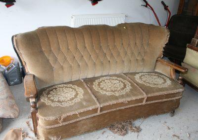 Zöld hármas kanapé