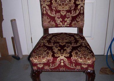 Bordó barokk mintás szék
